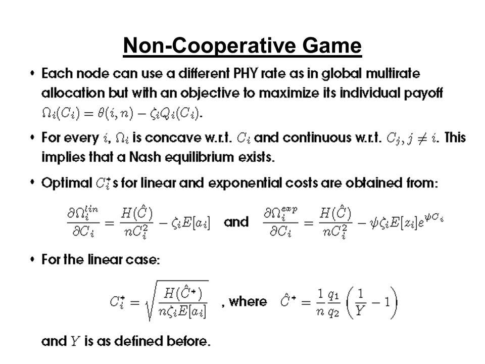 Non-Cooperative Game