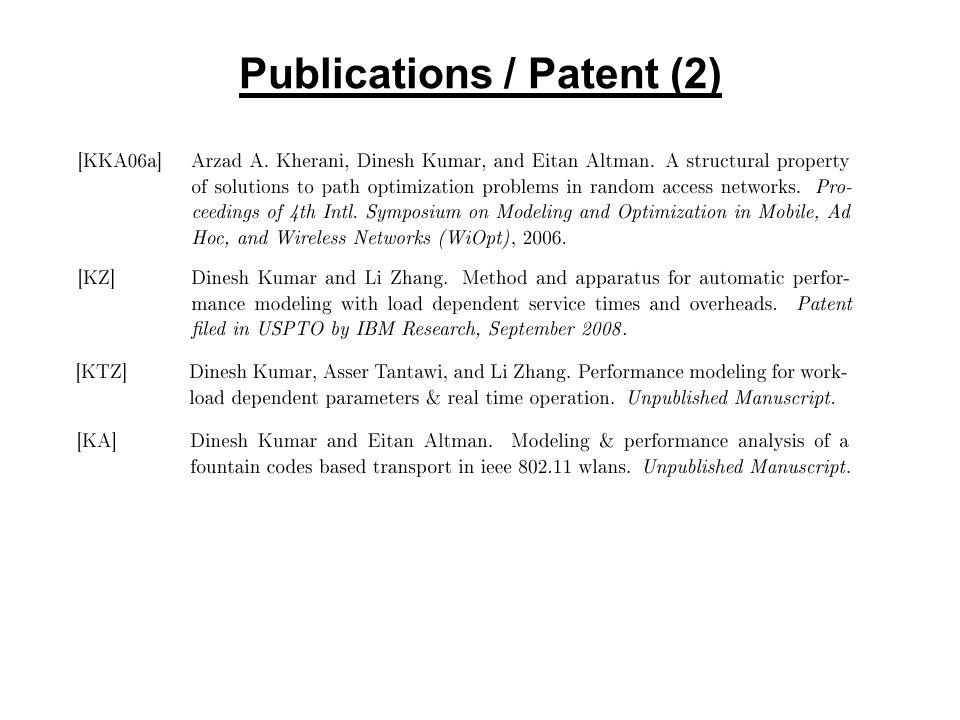 Publications / Patent (2)