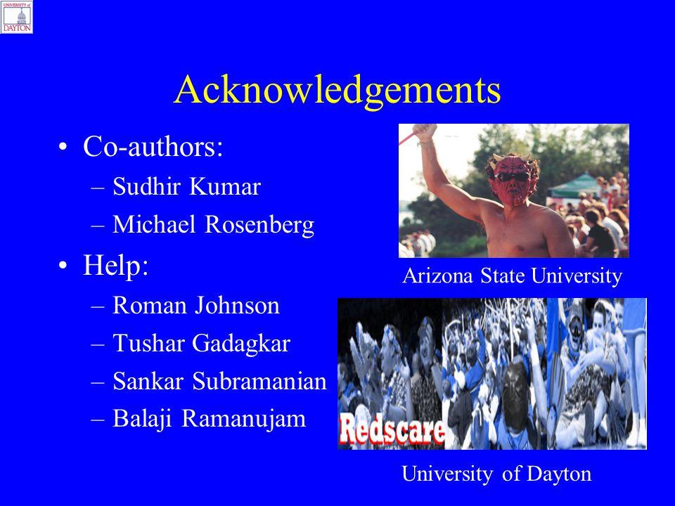 Acknowledgements Co-authors: –Sudhir Kumar –Michael Rosenberg Help: –Roman Johnson –Tushar Gadagkar –Sankar Subramanian –Balaji Ramanujam Arizona Stat