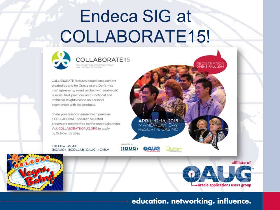 Endeca SIG at COLLABORATE15!