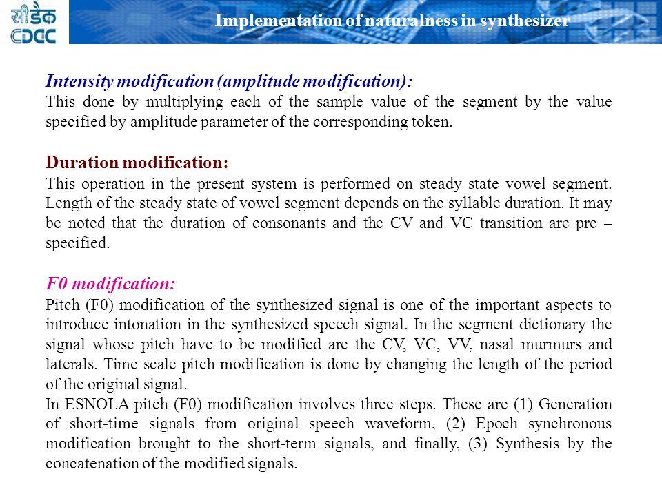 1. Intonation prosodic rule generations 2.