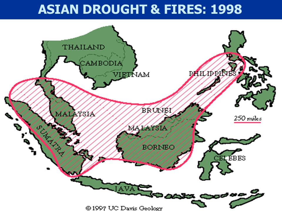 ASIAN DROUGHT & FIRES: 1998