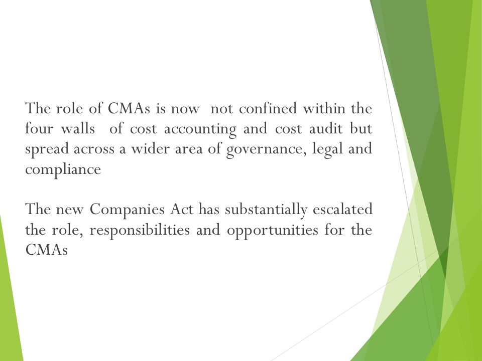 CMA Included in the definition of expert Section 2(38) expert includes an engineer, a valuer, a chartered accountant, a company secretary, a cost accountant and any other person who has the power or authority to issue a certificate in pursuance of any law for the time being in force;