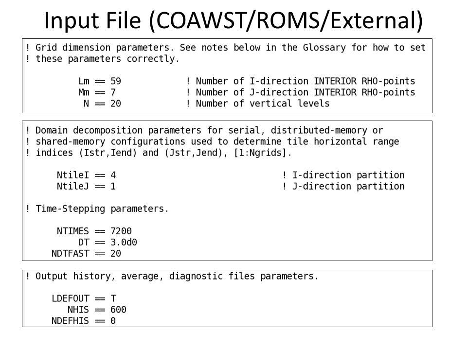 Input File (COAWST/ROMS/External)