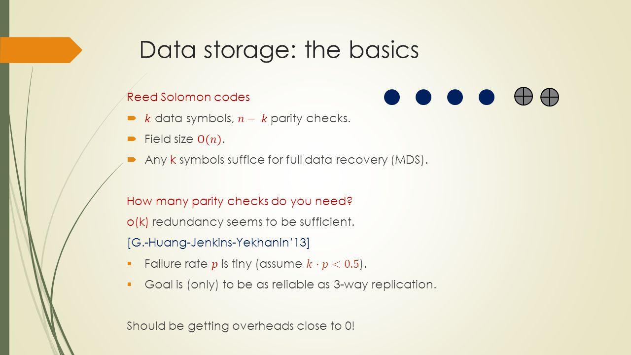 Data storage: the basics