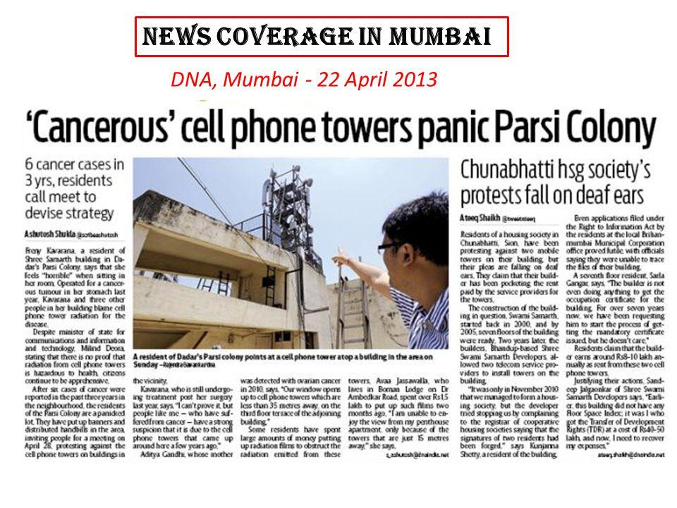 NEWS COVERAGE in MUMBAi DNA, Mumbai - 22 April 2013
