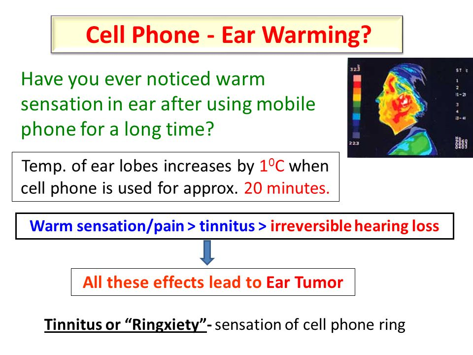 Cell Phone - Ear Warming.