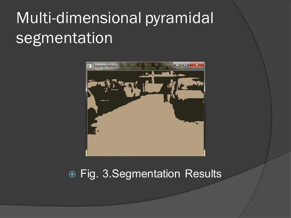 Multi-dimensional pyramidal segmentation  Fig. 3.Segmentation Results