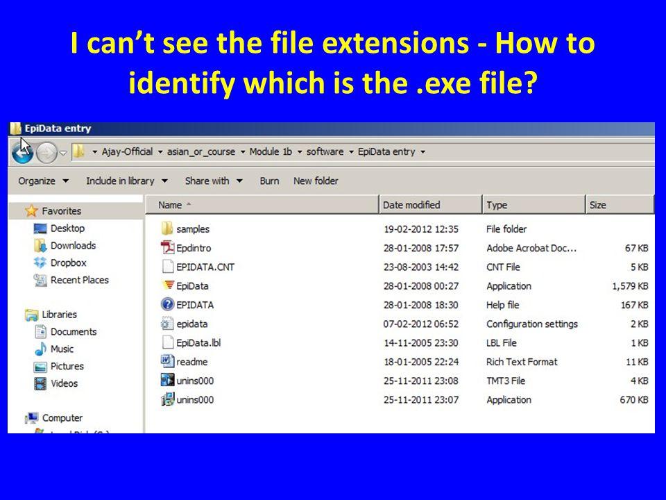 Select folder options