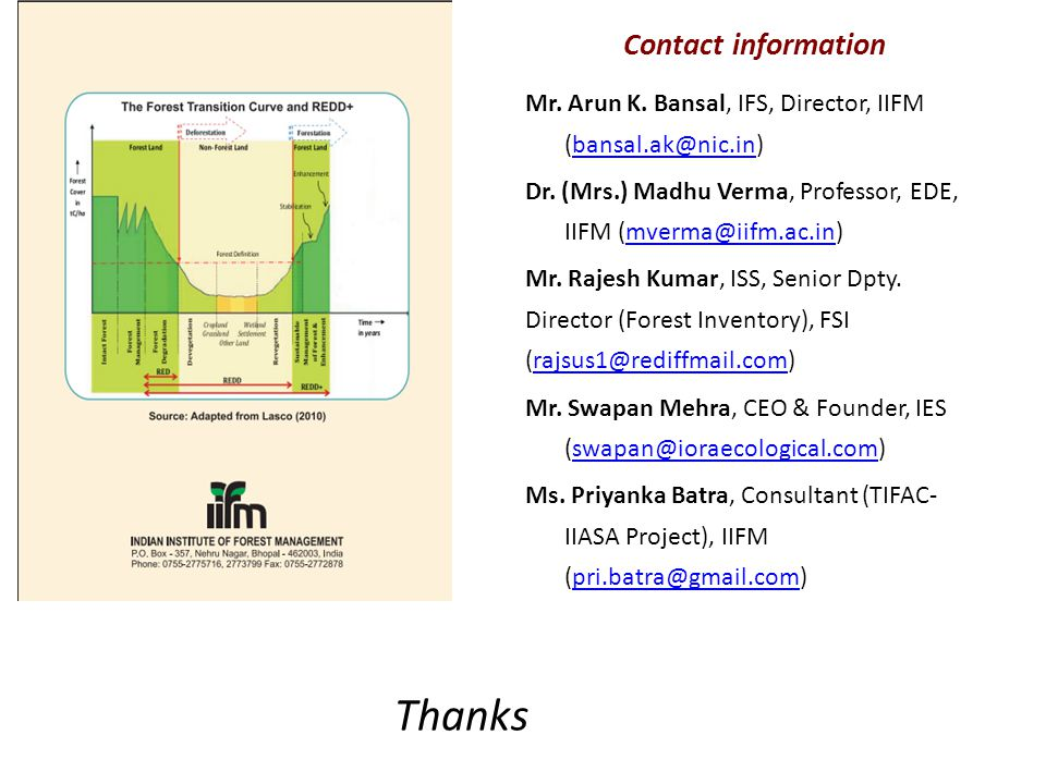 Thanks Contact information Mr. Arun K.