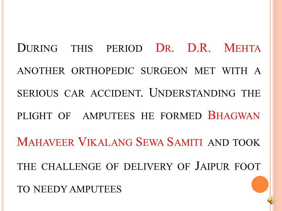 J AIPUR FOOT WAS DEVELOPED BY D R.P.K.S ETHI A N ORTHOPAEDIC SURGEON IN 1968 BUT DURING 1968-1975 ONLY 50 LIMBS WERE FITTED