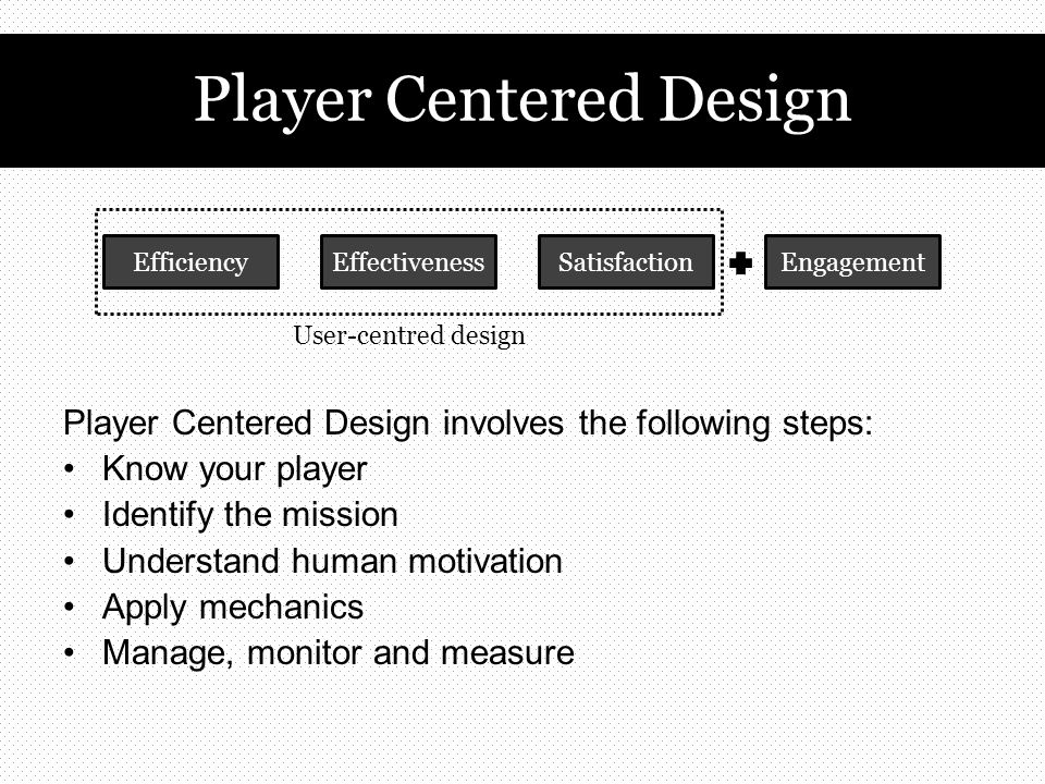 1.Collecting 2.Connecting 3.Achievement 4.Feedback 5.Self-expression Some useful links for game mechanics: ‐ SCVNGR's playdeck of game mechanics SCVNGR's playdeck of game mechanics ‐ Gamification wiki: list of game mechanics Gamification wiki: list of game mechanics Some motivation drivers