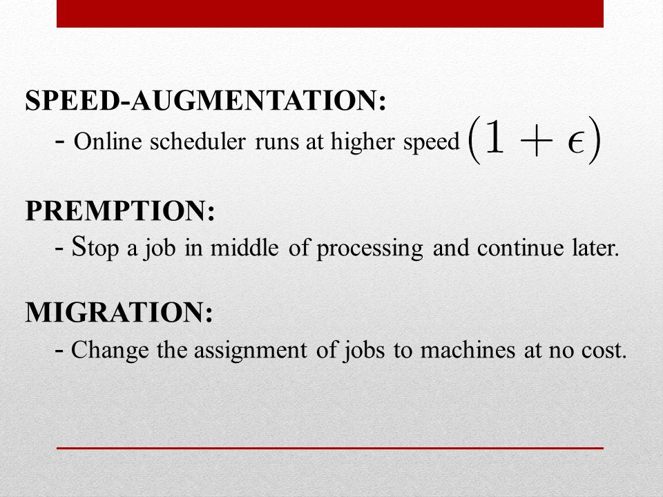 THE DUAL For all jobs machines and time instants