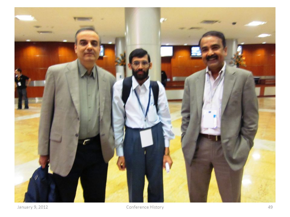 January 9, 2012Conference History49