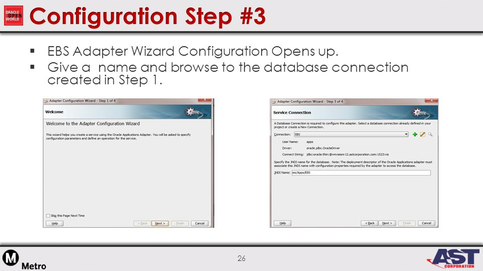 26  EBS Adapter Wizard Configuration Opens up.