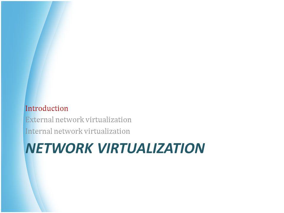 Internal Network Virtualization Network virtualization example form VMware