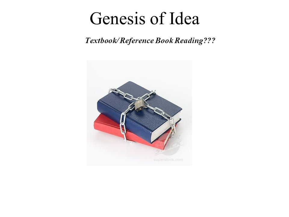 Genesis of Idea Textbook/ Reference Book Reading