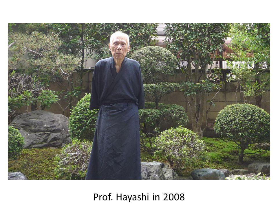 Prof. Hayashi in 2008