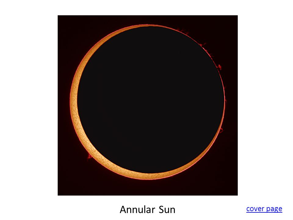 Annular Sun cover page