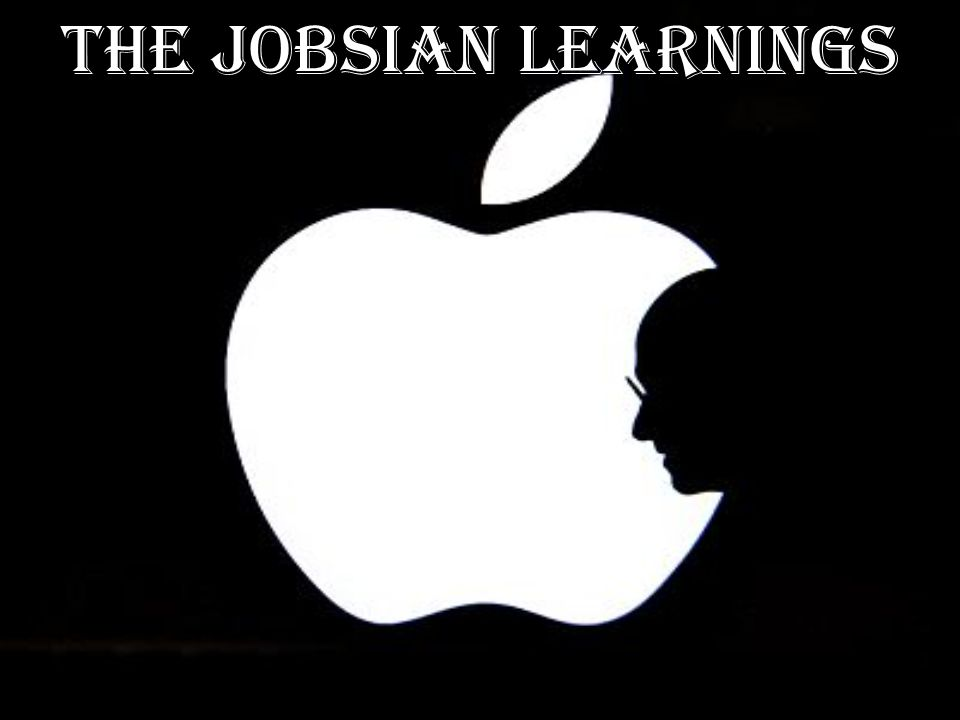 THE JOBSIAN LEARNINGS