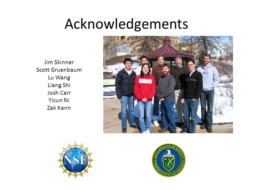 Acknowledgements Jim Skinner Scott Gruenbaum Lu Wang Liang Shi Josh Carr Yicun Ni Zak Kann