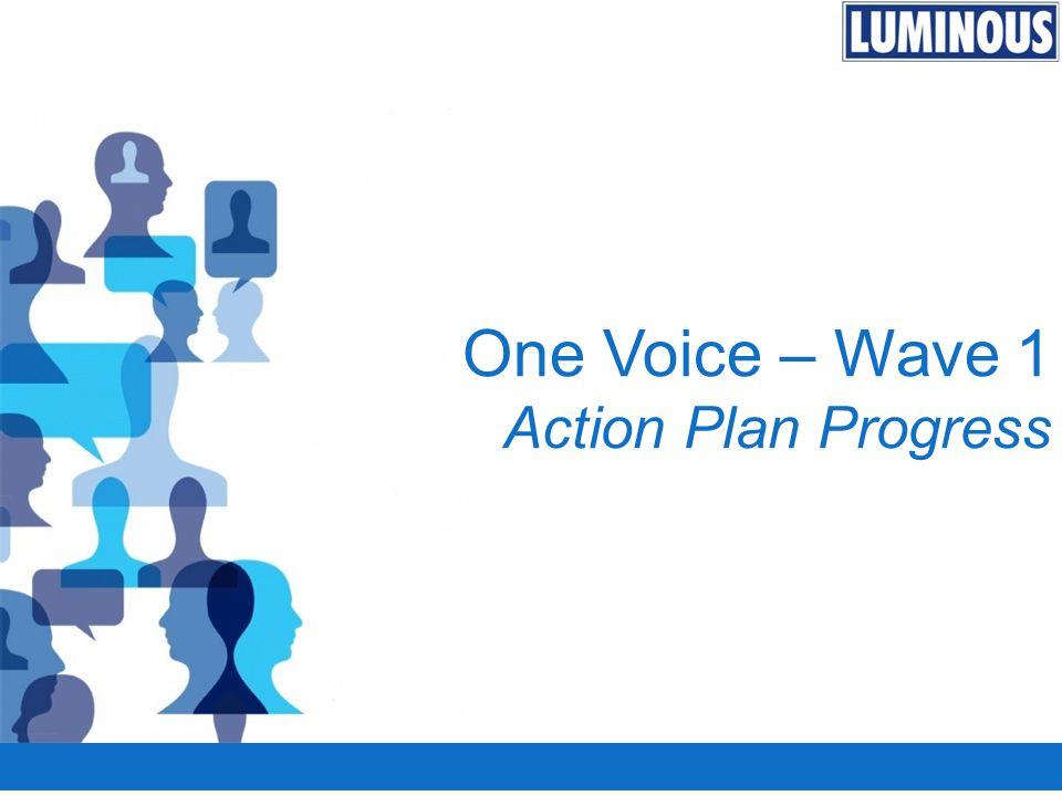 One Voice – Wave 1 Action Plan Progress