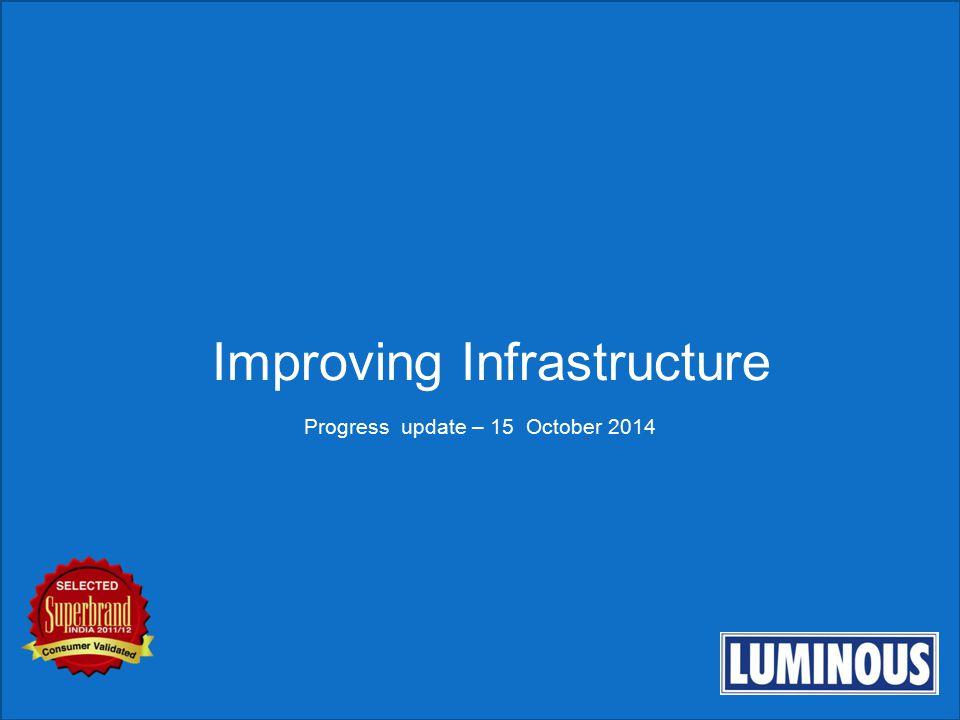 Improving Infrastructure Progress update – 15 October 2014