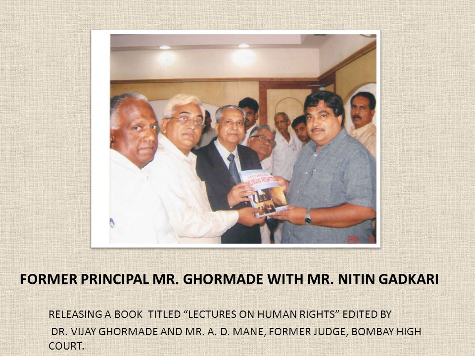 FORMER PRINCIPAL MR. GHORMADE WITH MR.