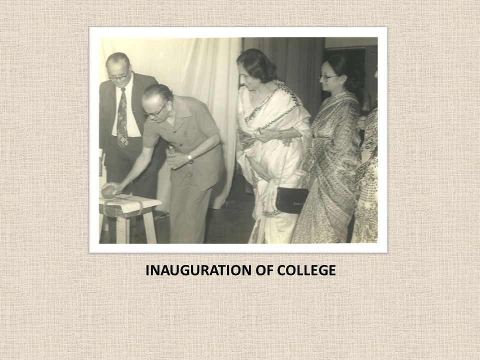 INAUGURATION OF COLLEGE