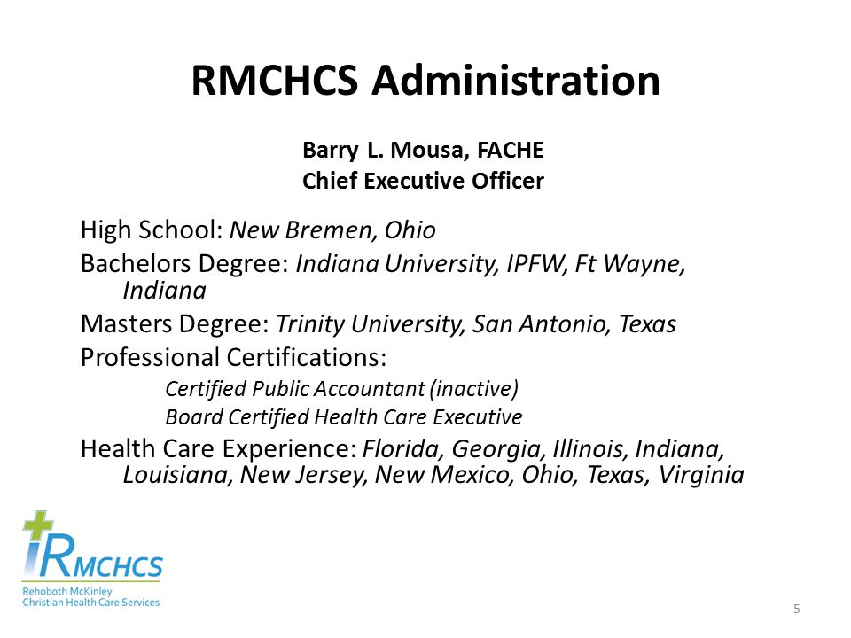 RMCHCS Administration Barry L.