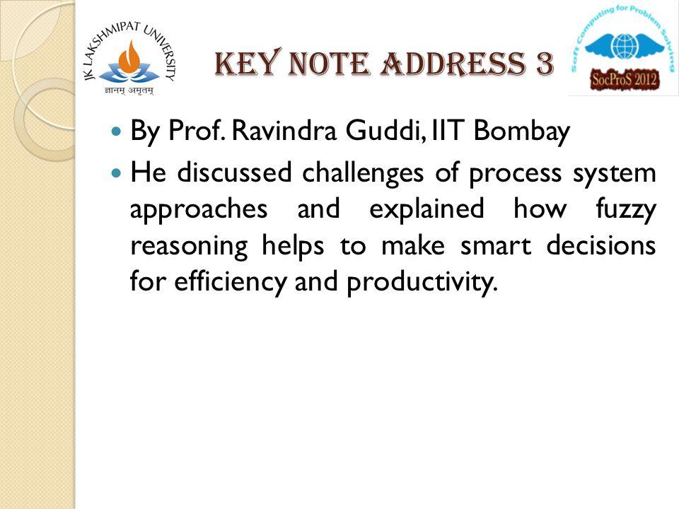 Key note address 3 By Prof.