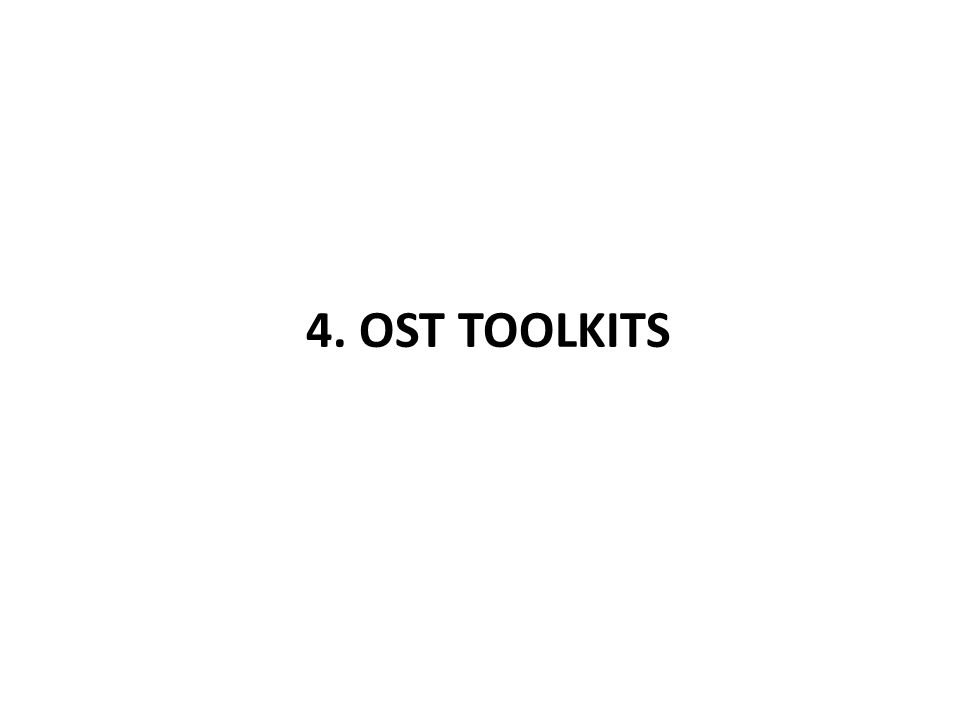 4. OST TOOLKITS