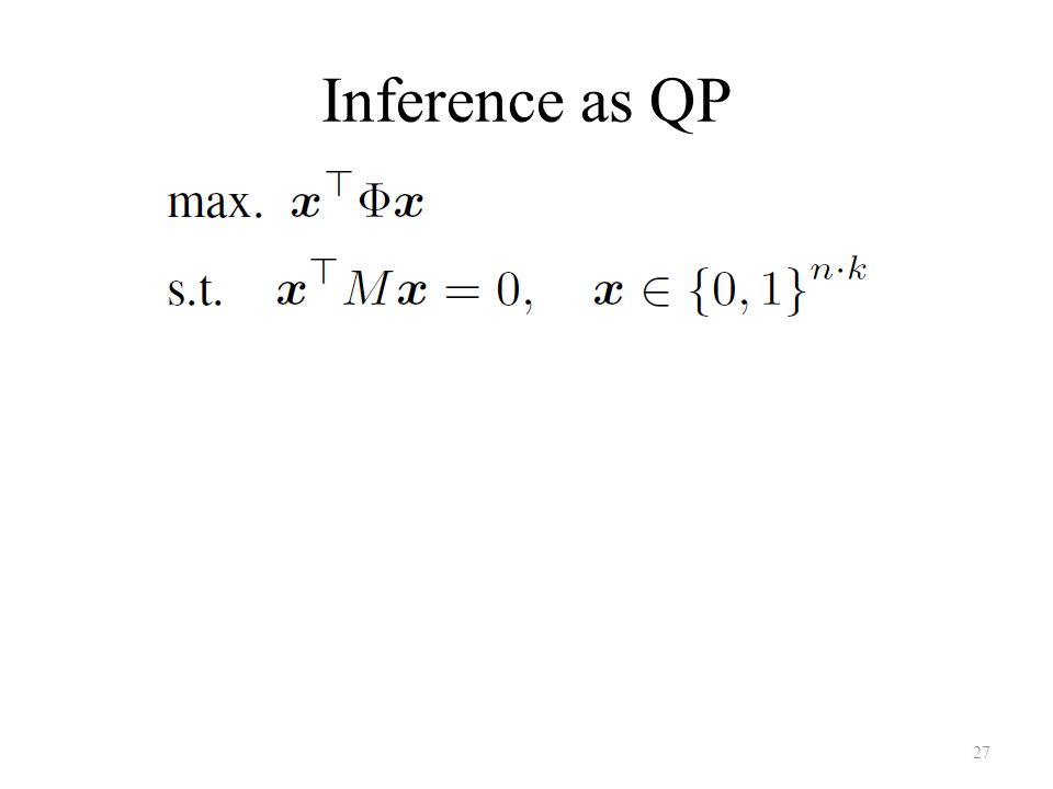 Inference as QP 27