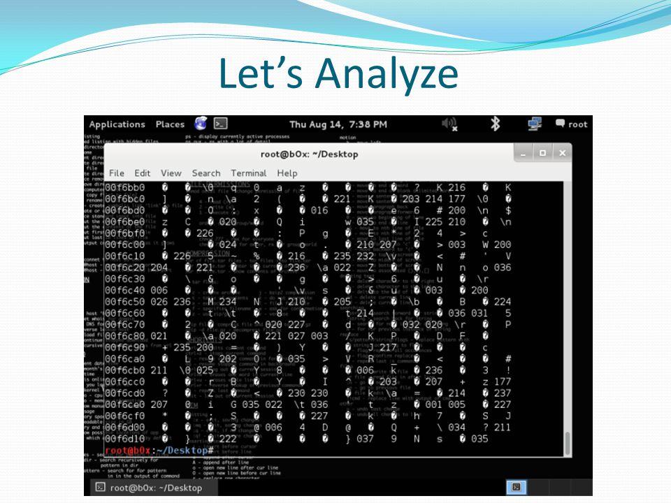 Let's Analyze