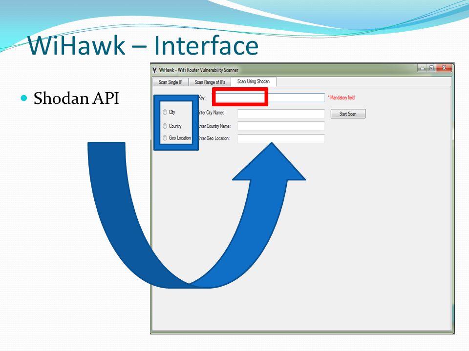 WiHawk – Interface Shodan API