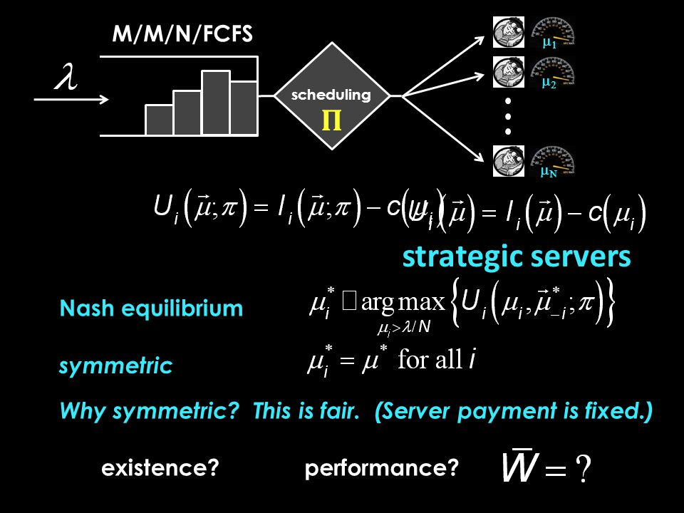 M/M/N/FCFS  Random  staffing Set Theorem: The staffing N λ is asymptotically optimal in the sense that Fluid scale cost.