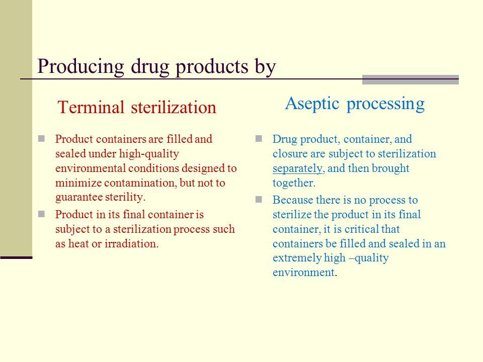 Terminal Sterilization Drug Product Container / Closure Excipiants Sterilization Process Sterile Drug Product !