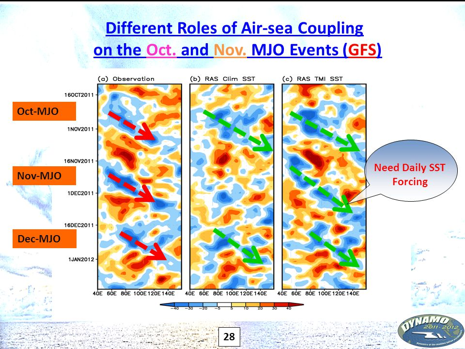 Different Roles of Air-sea Coupling on the Oct. and Nov.