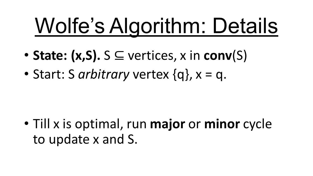 Wolfe's Algorithm: Details