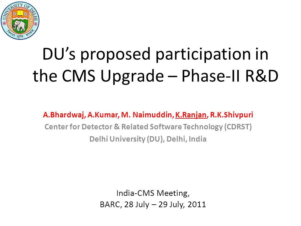 Si Tracker Upgrade Ashutosh Bhardwaj, Kirti Ranjan, R.K. Shivpuri