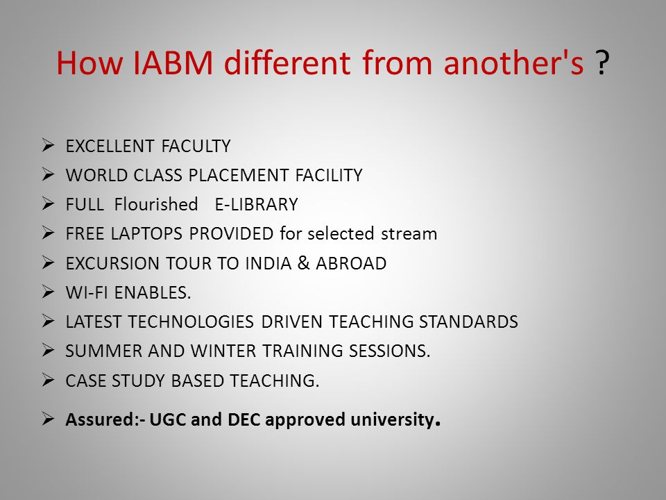 How IABM different from another s .