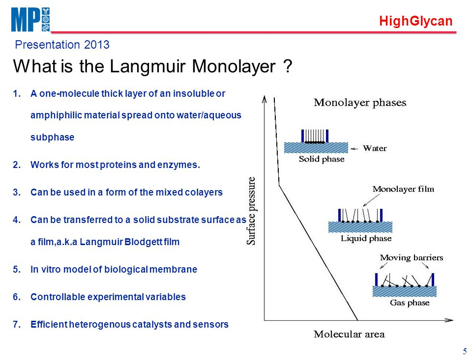 HighGlycan Presentation 2013 What is the Langmuir Monolayer .