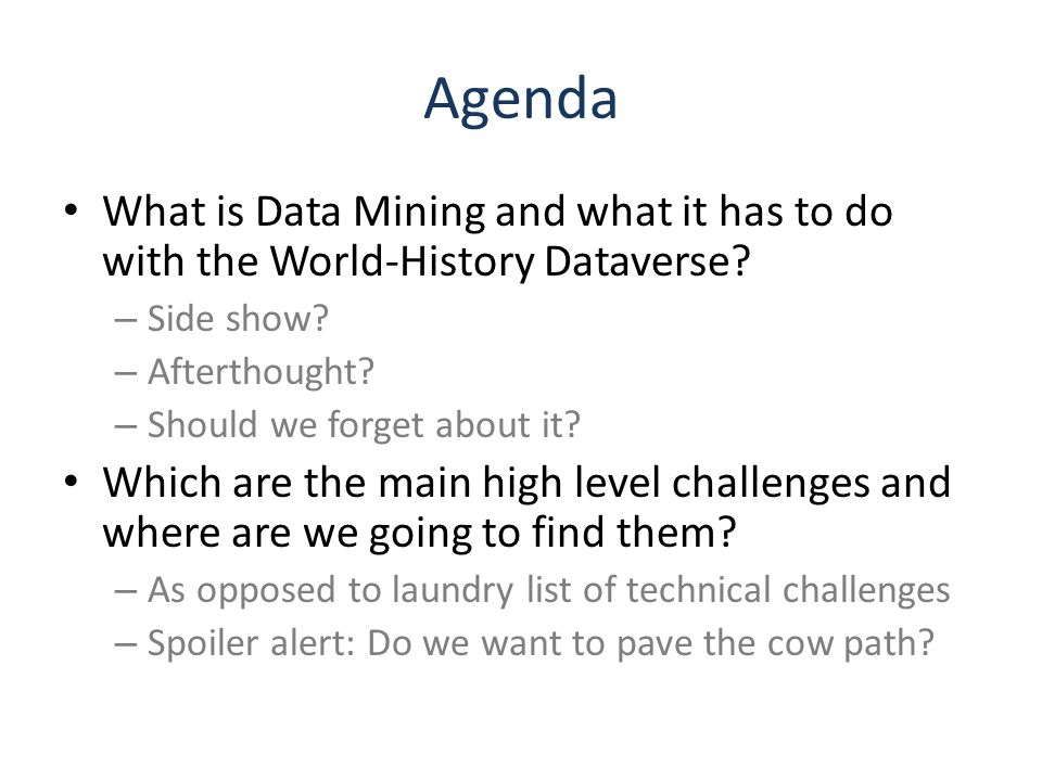 What is Data Mining DM.