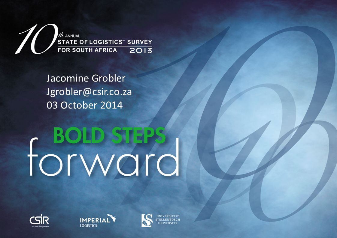 Jacomine Grobler Jgrobler@csir.co.za 03 October 2014