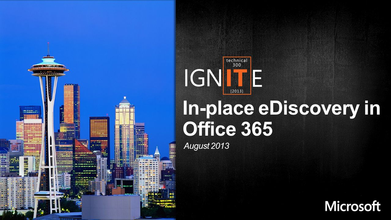 In-place eDiscovery in Office 365 August 2013