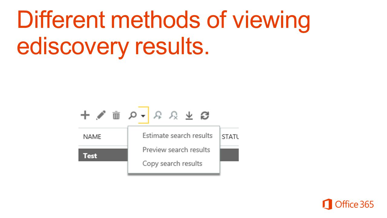 Different methods of viewing ediscovery results.