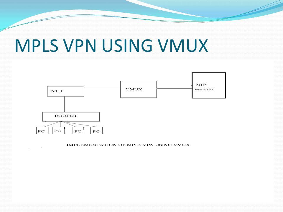 MPLS VPN USING VMUX