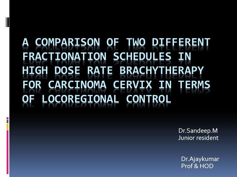 Dr.Sandeep.M Junior resident Dr.Ajaykumar Prof & HOD