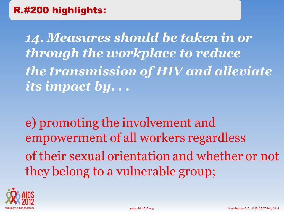 Washington D.C., USA, 22-27 July 2012www.aids2012.org 14.