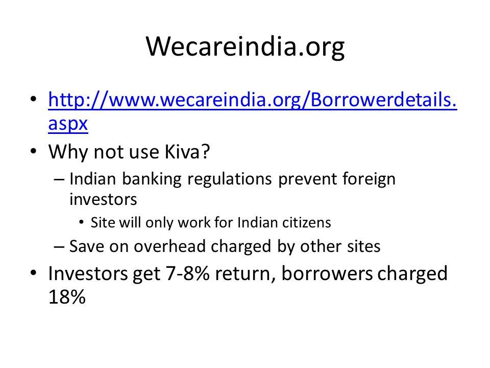 Wecareindia.org http://www.wecareindia.org/Borrowerdetails.